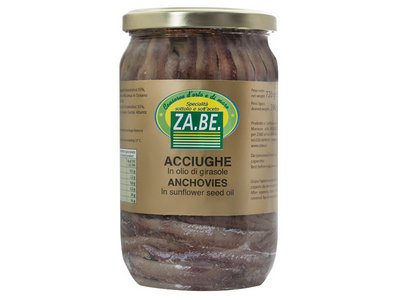 ANCHOVIES IN SUNFLOWER SEED OIL