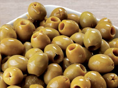 "PITTED GREEN OLIVES ""CATERING"""