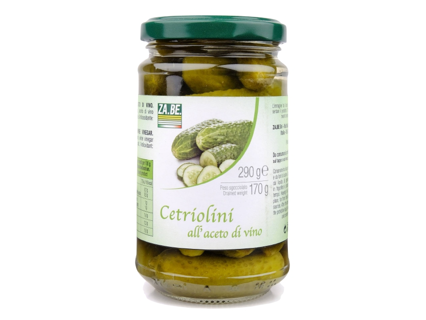 CETRIOLINI IN ACETO DI VINO